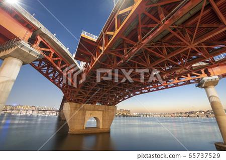 漢江大橋的夜景 65737529
