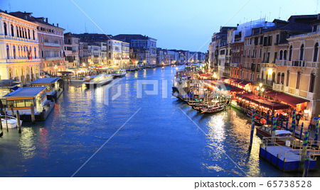Grand Canal at dusk, Venice, Italy 65738528