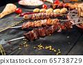 Caucasian shashlyk skewer beef mutton lulya  65738729