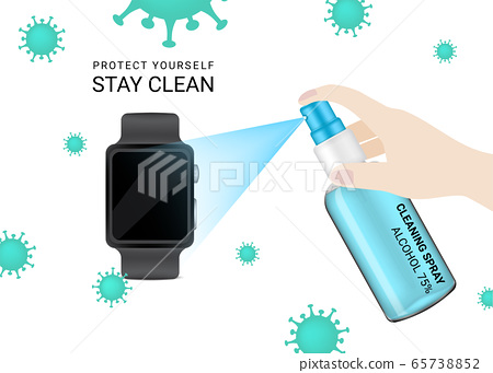 Glossy Spray Transparent Bottle with hygienic 65738852