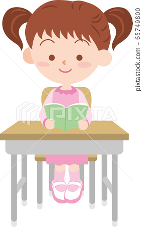 A girl studying in the classroom 65749800
