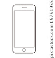 Simple line drawing illustration of smartphone 65751955