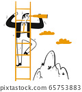 Businessman leader climb stair to peak 65753883