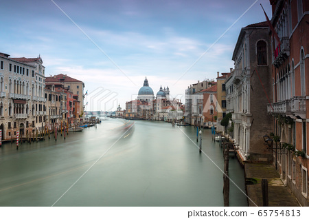 Grand canal of Venice city with beautiful 65754813