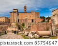 Architecture of the Roman Forum in Rome, Italy 65754947