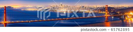 Golden Gate bridge Sunset 65762895