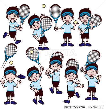 網球男孩遮陽板套 65767922