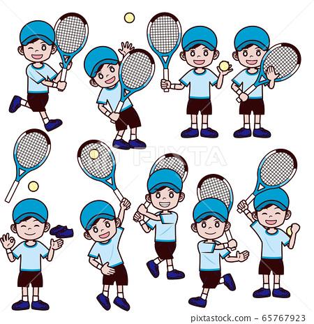 網球男孩帽帽子套裝 65767923
