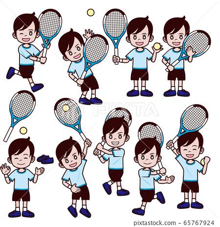 網球男孩套裝 65767924