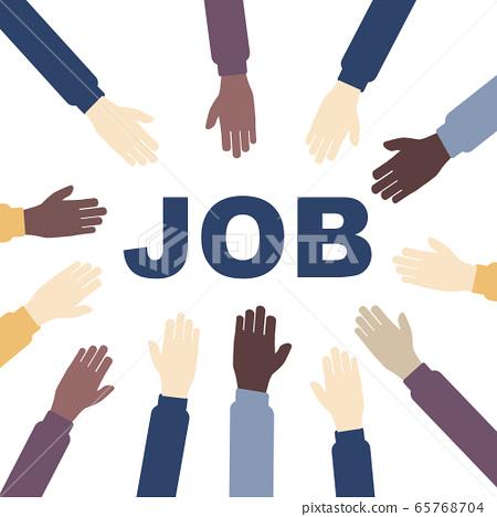 Unemployment, the lost job concept vector. White 65768704