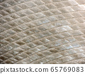 Background of shiny metal plates 65769083