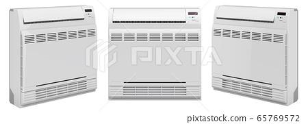Air Conditioner, Floor Standing Unit. 3D rendering 65769572