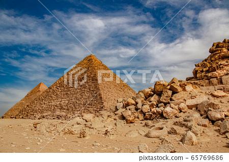 Ancient Pyramid of Mycerinus, Menkaura and the 65769686