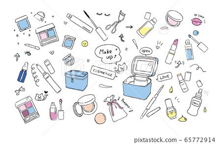 化妝工具的插圖 65772914