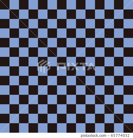 체크 무늬 블랙 × 블루 M 65774032