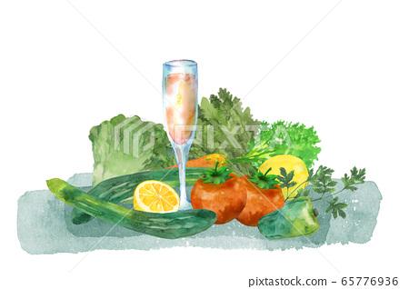 蔬菜和果汁 65776936