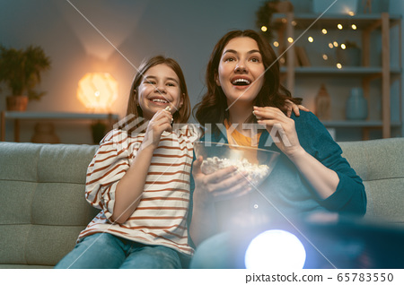 Mother and daughter spending time together. 65783550