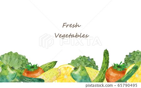 Vegetable frame watercolor 65790495