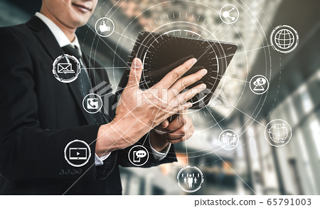 Social media and people network technology concept 65791003