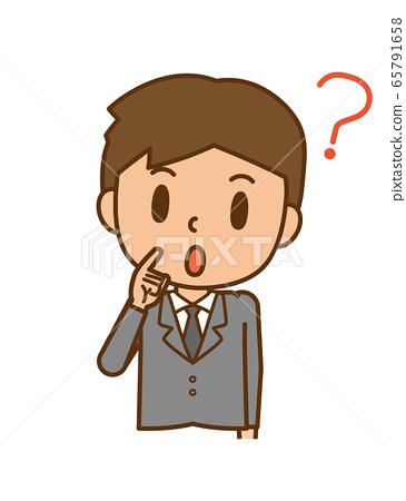 Businessman question Hatena mark 65791658