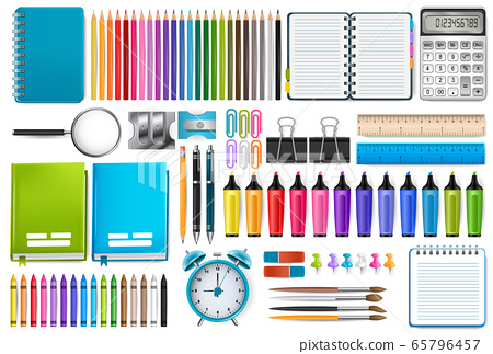 School supplies. Vector illustration. 65796457