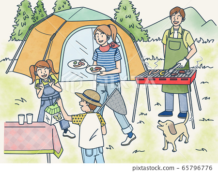 family, camp, camping 65796776
