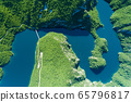 Piva Lake in Montenegro aerial image 65796817