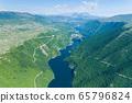 Piva Lake in Montenegro aerial image 65796824