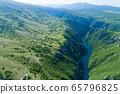 Piva Lake in Montenegro aerial image 65796825