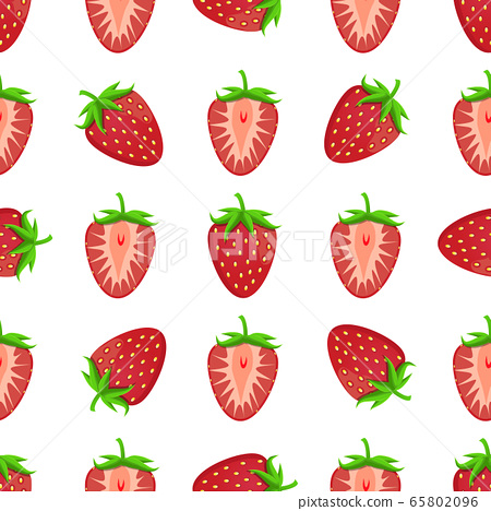 Theme big colored seamless strawberry 65802096