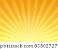 Retro yellow sunburst background 65802727