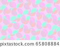 Colorful pastel circle fractal digital illustration 65808884