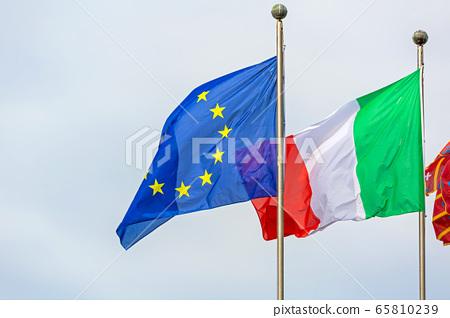 Italy EU Flags 65810239
