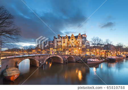 Amsterdam, Netherlands Bridges and Canals 65810788