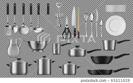 Kitchenware and tableware, crockery vector 65811029