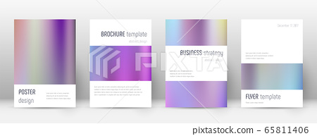 Flyer layout. Minimalistic indelible template for  65811406