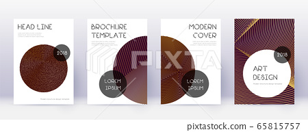 Trendy brochure design template set. Gold abstract 65815757