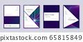 Stylish brochure design template set. Neon abstrac 65815849