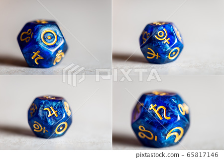 Astrology Dice with symbol of the planets 65817146