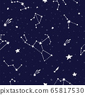 Cosmic fabric for kids. Bright childish tile.  65817530