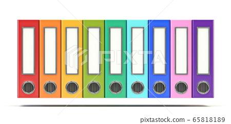 Multi colored office folders 3D 65818189