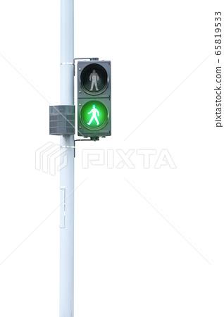 Traffic lights, green signal, go on white 65819533