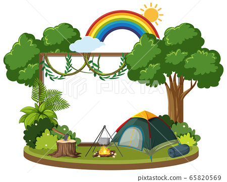 Background template with camping theme 65820569