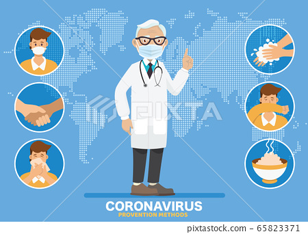Coronavirus (COVID-19)preventions. Doctor explain 65823371