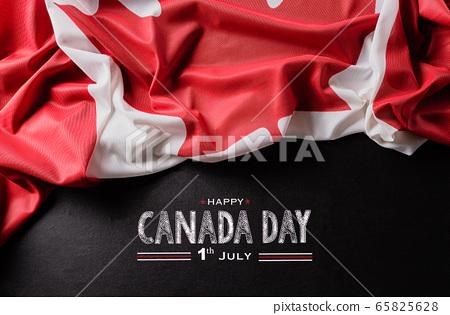 National flag of Canada background, beautiful 65825628