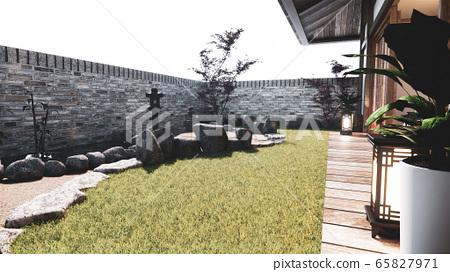 Japanese garden tropical exterior design japan 65827971