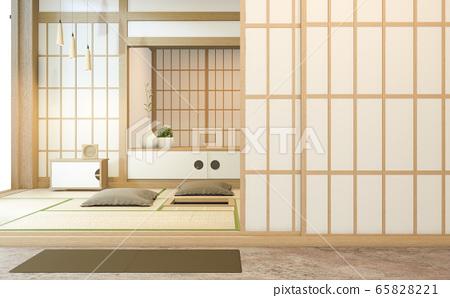 Nihon room design interior with door paper 65828221