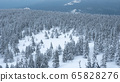 Snow-capped peaks of Taganai National Park located in the South Urals. 65828276