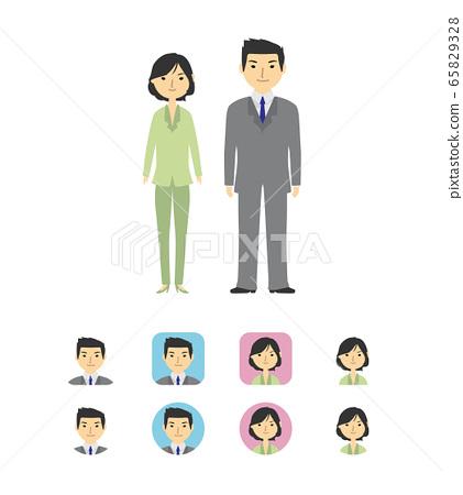 男性和女性商人 65829328