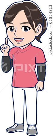 Nurse woman _ whole body 65834813